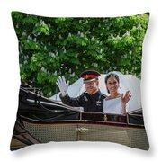 The Royal Wedding Harry Meghan Throw Pillow
