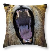 The Royal Yawn Throw Pillow