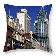 The Rsa Tower - Mobile Alabama Throw Pillow