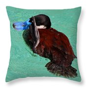 The Ruddy Salute Throw Pillow