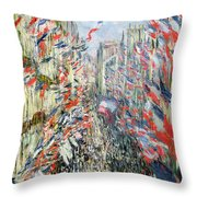 The Rue Montorgueil Throw Pillow