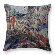 The Rue Saint Denis Throw Pillow