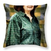 The Rugmaker Throw Pillow