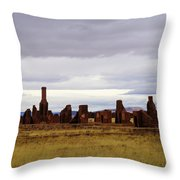 The Ruins Of Fort Union Throw Pillow