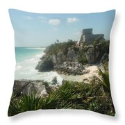The Ruins Of Tulum Throw Pillow