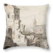 The Ruins Of Utrecht Throw Pillow