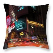 The Running Of The Taxis Throw Pillow