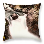 The Rush Of Water And The Cool Wet Wind Throw Pillow