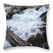 The Rushing River Throw Pillow