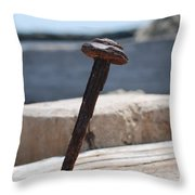 The Rusted Spike Throw Pillow
