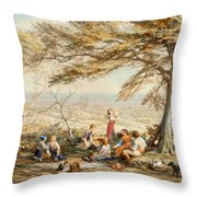 The Rustic Dinner Throw Pillow