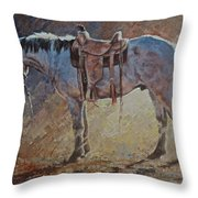 The Rustle Of Oats Throw Pillow