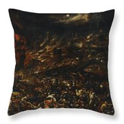 The Sack Of Troy Throw Pillow