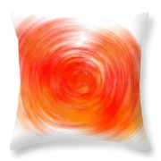The Sacral Chakra - Orange Throw Pillow