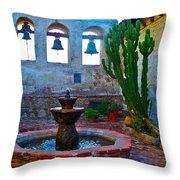 The Sacred Garden Of Mission San Juan Capistrano California Throw Pillow