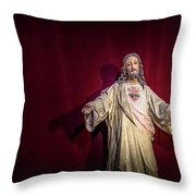 The Sacred Heart Throw Pillow