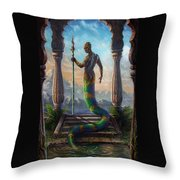 The Sacred Pool Throw Pillow