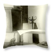 The Safe In The Wall Throw Pillow