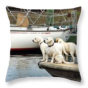 The Sailing Club Throw Pillow