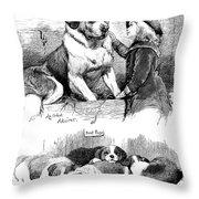 The Saint Bernard Club Dog Show Throw Pillow