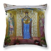 The Saints Are Waiting By The Parking Place Throw Pillow