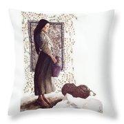The Samaritan Woman - Lgtsw Throw Pillow