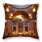 The Sanctuary Of Saint Matthew's Cathedral Throw Pillow