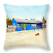The Sand Bar - Margaritaville, Freeport, Bahamas Throw Pillow