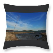 The Sandbar At Low Tide Throw Pillow