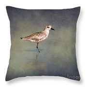 The Sanderling 2 By Darrell Hutto Throw Pillow