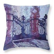 The Sant Pau Gates Throw Pillow