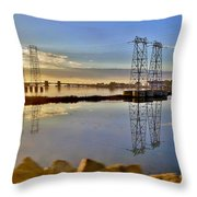 The Saugus River At Dawn Throw Pillow