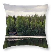 The Sauna Of Kintulammi Throw Pillow