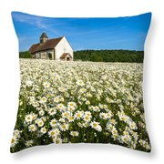The Saxon Church Throw Pillow by Trevor Wintle