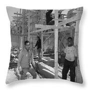 The Scaffold Boys Throw Pillow