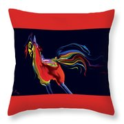 The Scared Rooster Throw Pillow