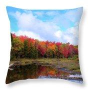 The Scarlet Reds Of Autumn Throw Pillow