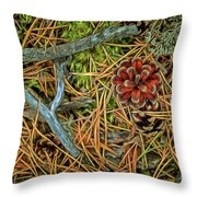 The Scent Of Pine Forest II Throw Pillow