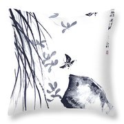 The Scent Of Spring Throw Pillow