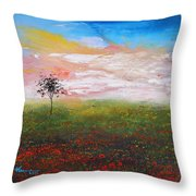 The Scented Sky Throw Pillow
