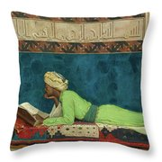 The Scholar Throw Pillow