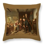 The School Inspector Throw Pillow