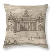 "The School Of Athens Arcades, For The ""chinea"" Festival Throw Pillow"