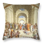 The School Of Athens, Raphael Throw Pillow