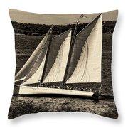 The Schooner Adirondack II Antiqued Throw Pillow