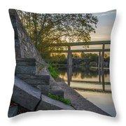 The Schuylkill Steps - East Falls - Philadelphia Throw Pillow