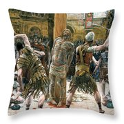 The Scourging Throw Pillow