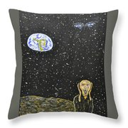 The Scream And Planets  Throw Pillow