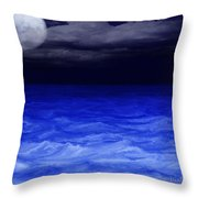 The Sea At Night Throw Pillow by Gina Lee Manley