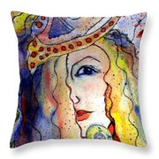 The Sea Becomes Her Throw Pillow